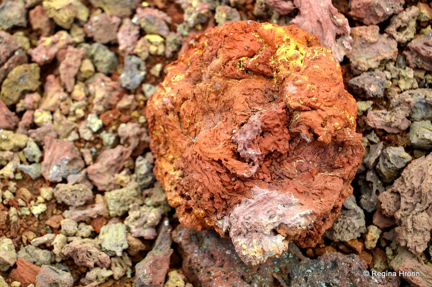 Purkhólar crater Snæfellsnes