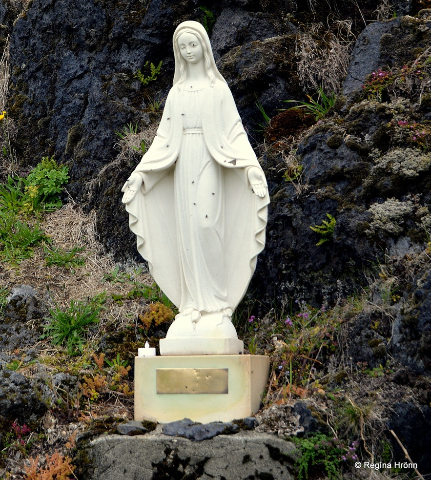 The statue of the Virgin Mary at Hellnar Snæfellsne
