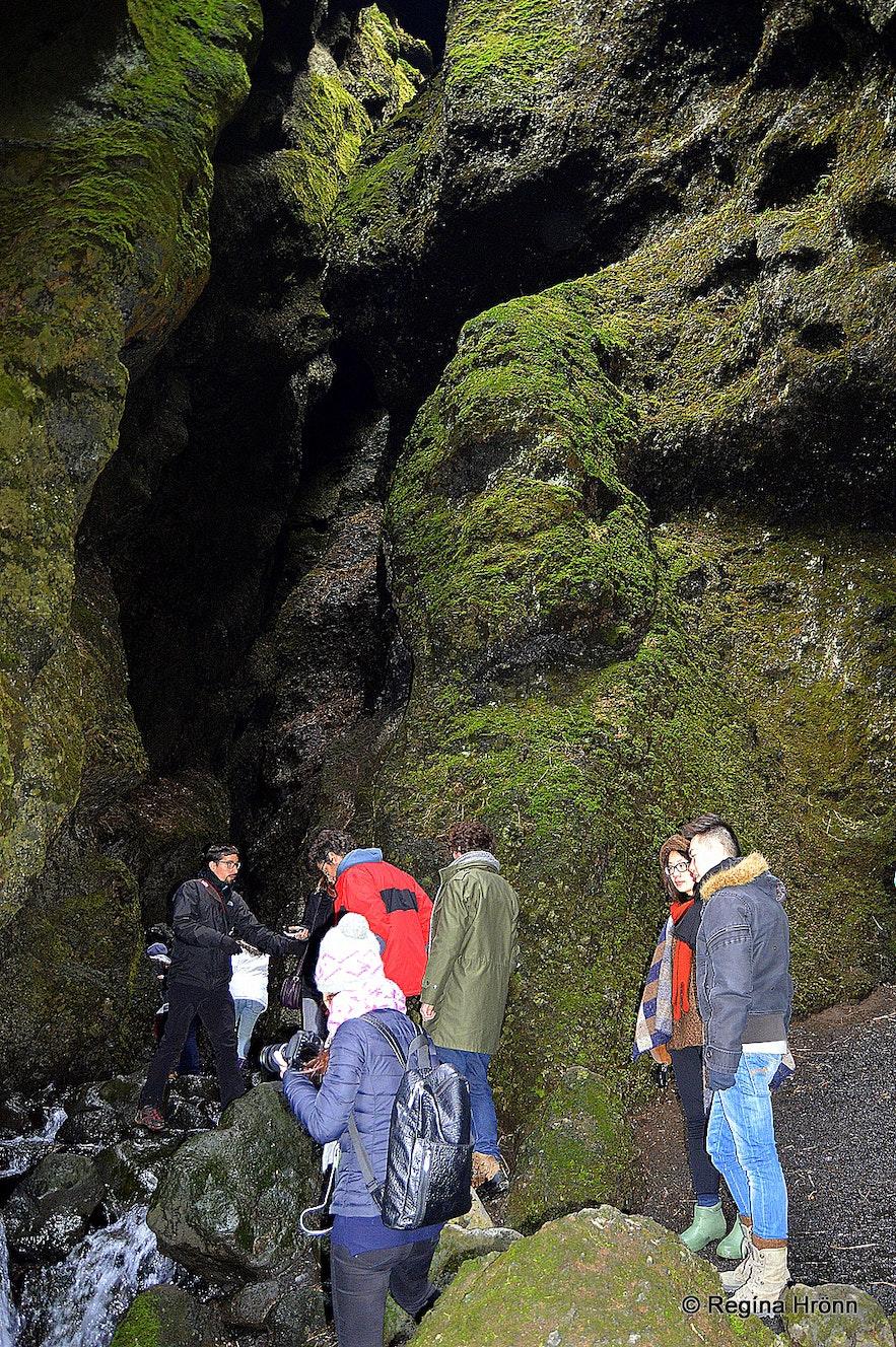 Inside Rauðfeldsgjá gorge