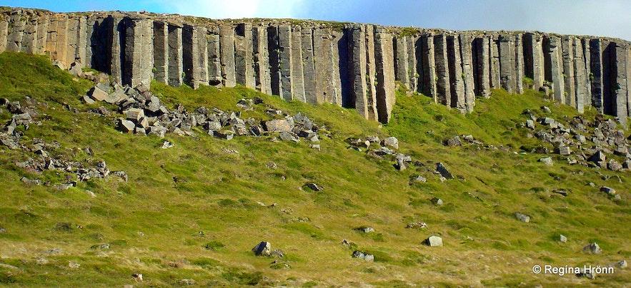 Gerðuberg basalt columns Snæfellsnes