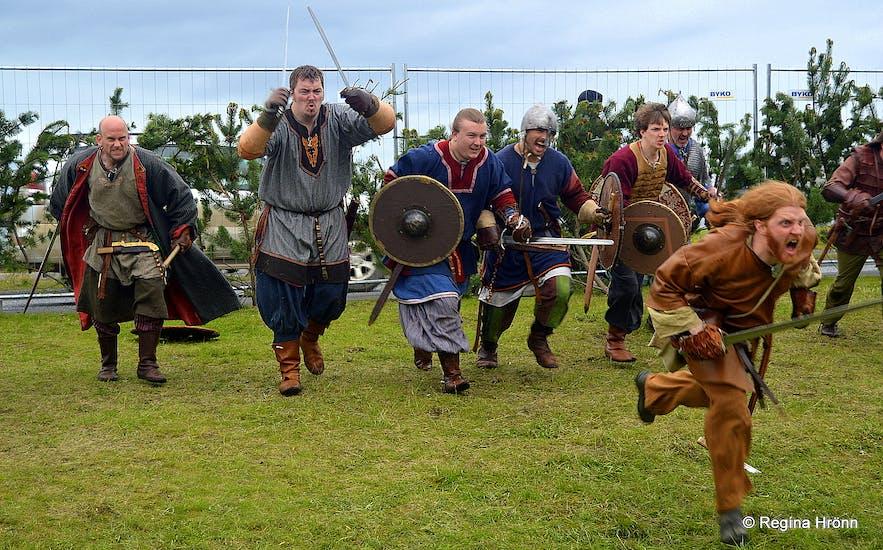 The Annual Viking Festival in Hafnarfjörður Town in Iceland