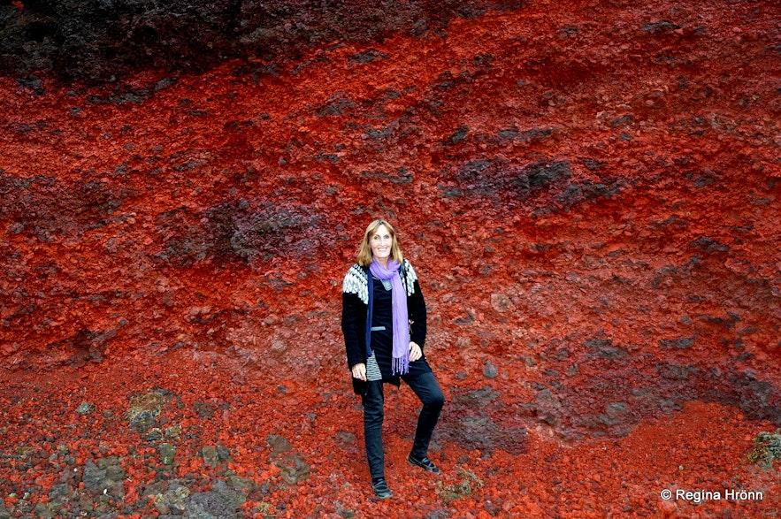Regína in Tjarnarhólar craters South-Iceland