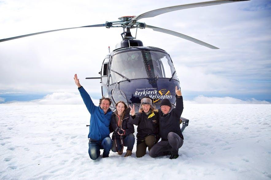 Loty helikopterem to jedna z najbardziej popularnych aktywności na Islandii.