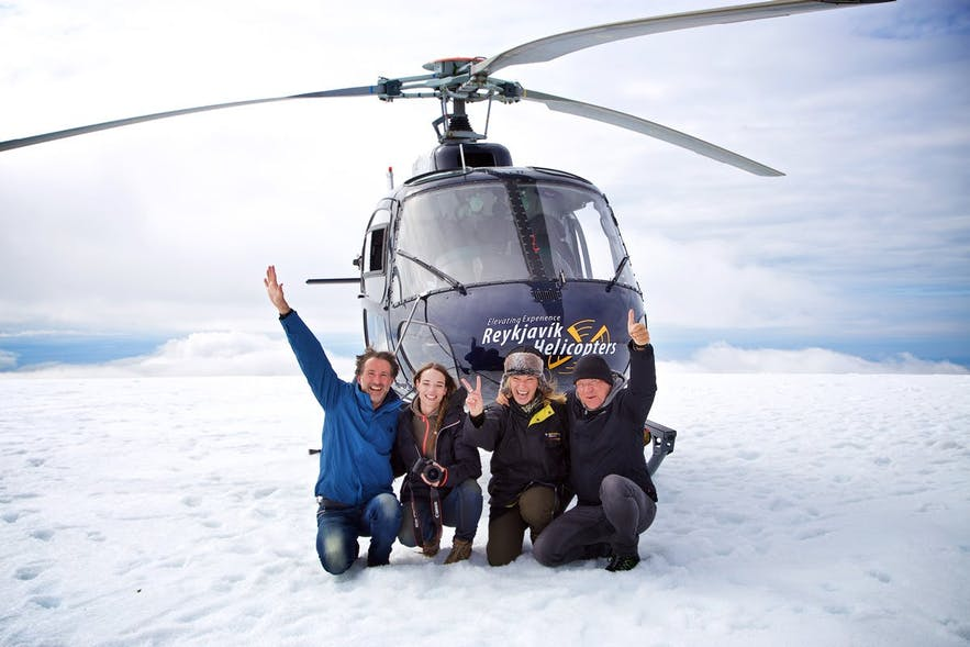 Helicopter rides are one of Iceland's most popular activities.