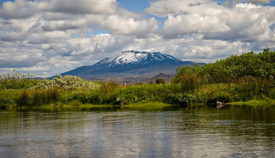 Hekla volcano, as seen in present day.