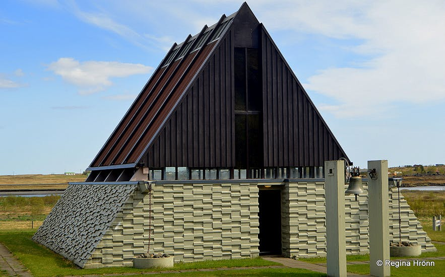 The Kirkjubæjarklaustur chapel in south Iceland