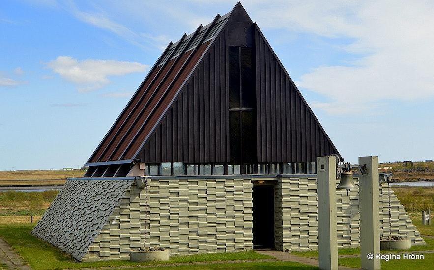 The Kirkjubæjarklaustur chapel in south Iceland