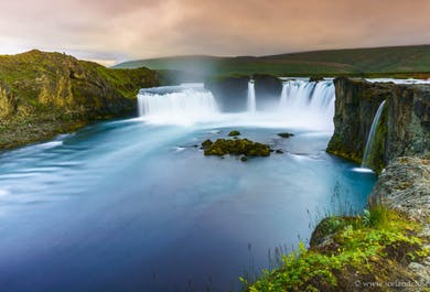 Godafoss Waterfall and Admission to the Myvatn Nature Baths | Luxurious Day Tour from Akureyri