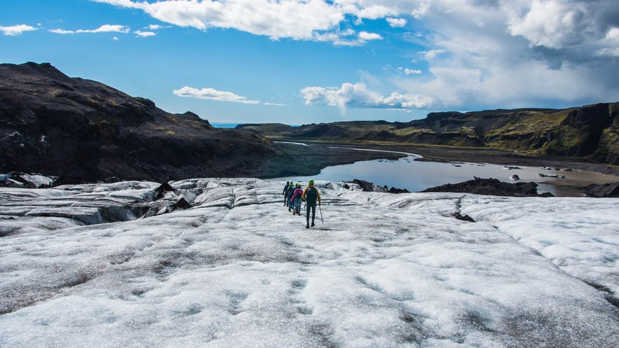 Sólheimajökull is the most popular glacier to hike on for those based in Reykjavík.