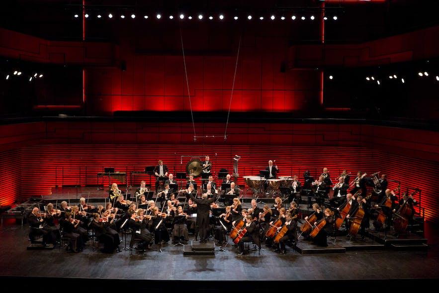 1950년 아이슬란드 심포니 오케스트라의 첫 콘서트