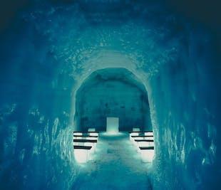 Tunele w lodowcu, wodospady Hraunfossar i Barnafoss | Prywatna wycieczka