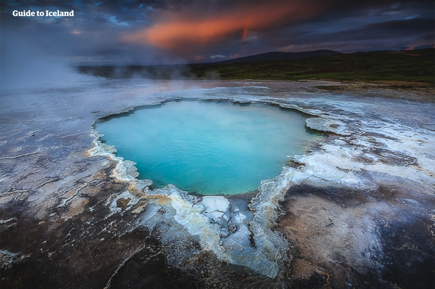 Hveradalur is a geothermal area near the Long Glacier.