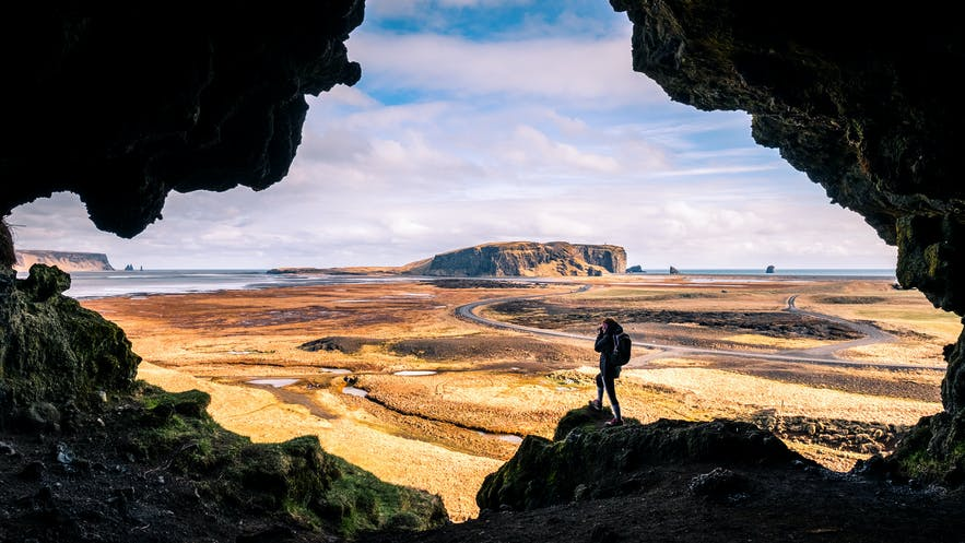 Much of Iceland appears as a flat, treeless landscape intercut with mountains and rivers.