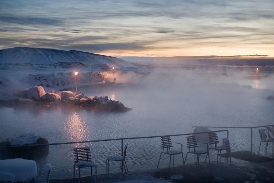 아이슬란드 미바튼 자연온천