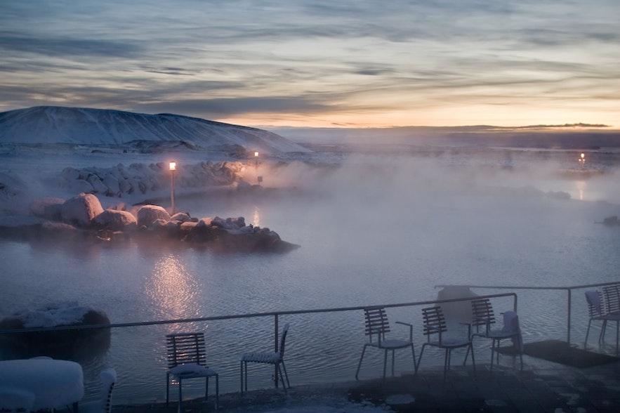 Bains naturels de Mývatn en Islande