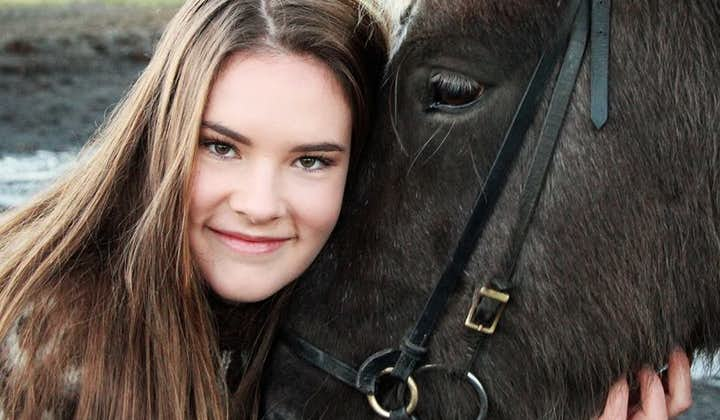 Take a selfie with the gentle Icelandic horse.