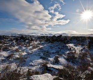 Visite du lac Myvatn et baignade dans une source chaude   Départ d'Akureyri