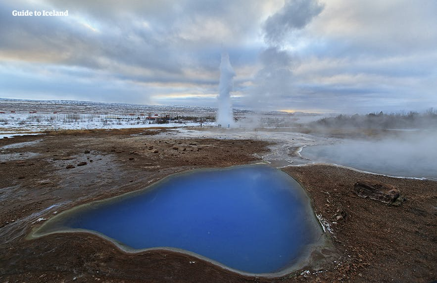 The hot springs around Geysir geothermal area are too hot to enter!