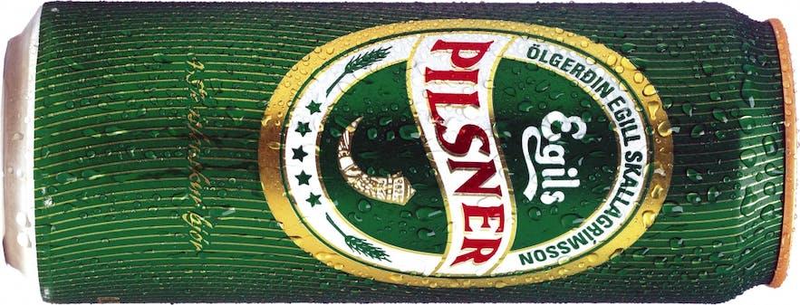 Typical Icelandic near beer, found in abundance in Icelandic super markets.