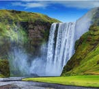 Skógafoss waterfall, as found on Iceland's South Coast.