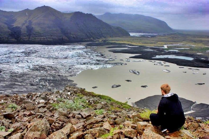 Ce point de vue sur la réserve de Skaftafell est incroyable