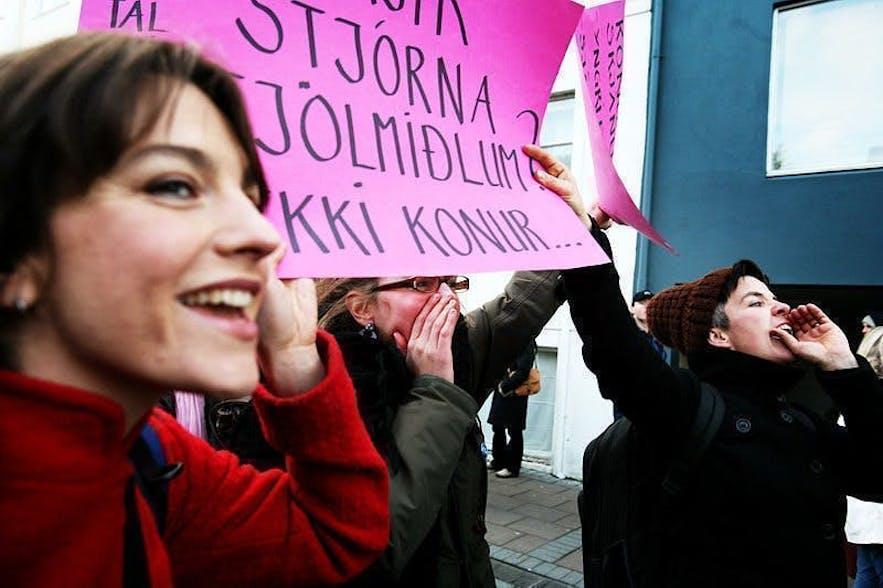 冰岛女性会努力为自己争取应有的权利
