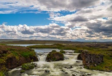 Mountain Bike Tour to 'Eider Waterfalls'   Departure from Husavik