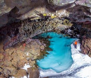 フーサヴィーク発|スーパージープで行く噴火跡や溶岩洞窟