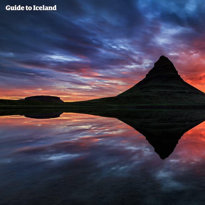 斯奈山草帽山-午夜阳光皮划艇旅行团|冰岛特色体验