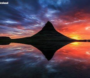 Paseo en kayak bajo el Monte Kirkjufell | Aventura de sol de medianoche