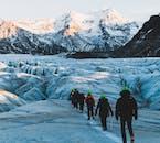 Vous aurez des vues spectaculaires lors d'une randonnée sur glacier!