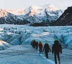 You'll have some spectacular views when hiking over glacier fields!