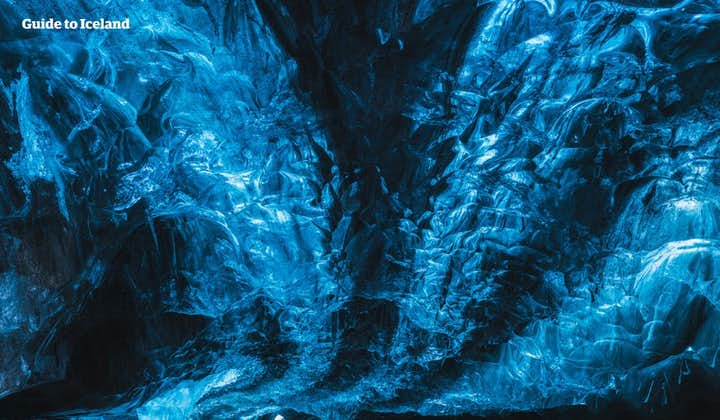 You'll never see the colour blue the same way after visiting an ice cave!