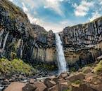 The magnificent Svartifoss waterfall.