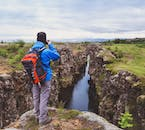 One of the many canyons found in Þingvellir National Park.