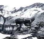 Mystical glaciars hide caves deep inside.