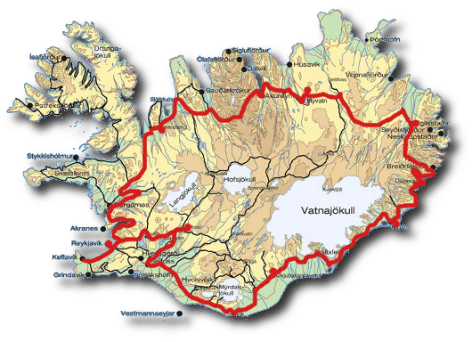 Iceland Road Map Finding Your Way in Iceland | Car Rental & Road Information Iceland Road Map
