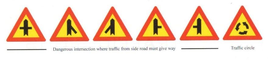 Dostępne na Islandii znaki drogowe