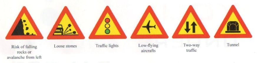 Icelandic Road Signs and Meanings 3