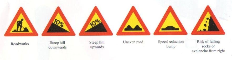 Znaki drogowe przydatne w trakcie wycieczki objazdowej po Islandii