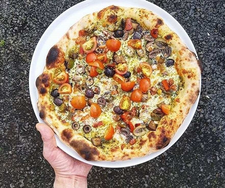 Centered cropped pizza