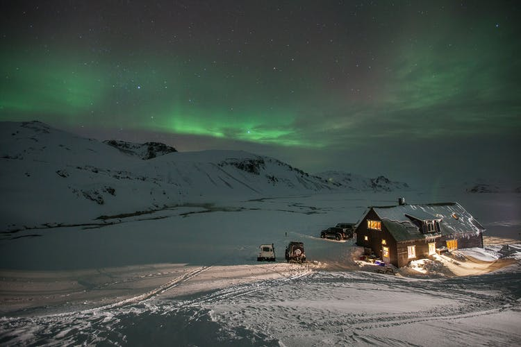 On this tour, you'll be staying in a remote mountain hut, the perfect place to watch the Northern Lights.