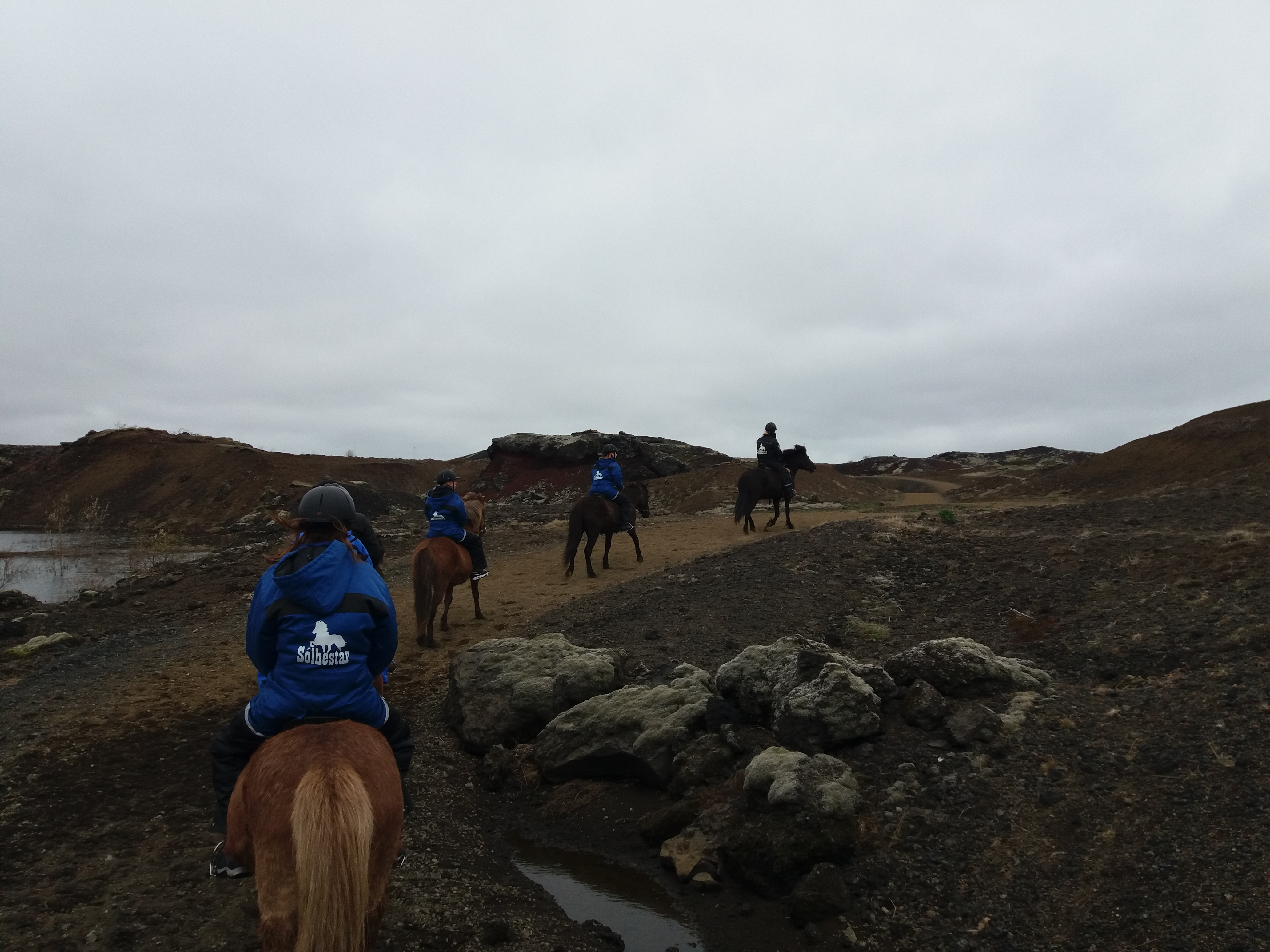 Ride through a lava field to the Rauðhólar, pseudo-craters in Reykjavík city.