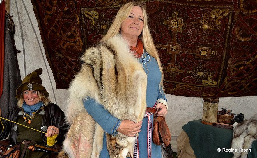 Elín Reynisdóttir at the Vking festival in Hafnarfjörður