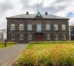 The parliament building where Iceland's parliament, Alþingi, resides.
