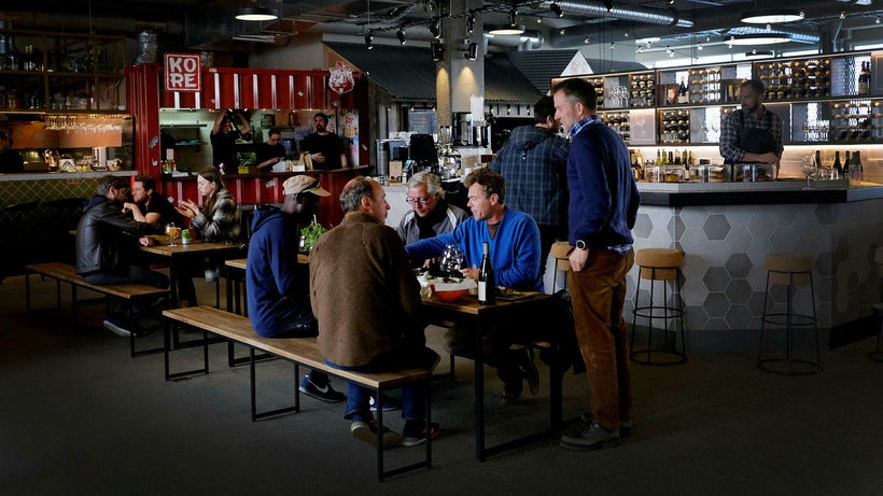 The newly opened Grandi Mathöll Food Hall in Reykjavík