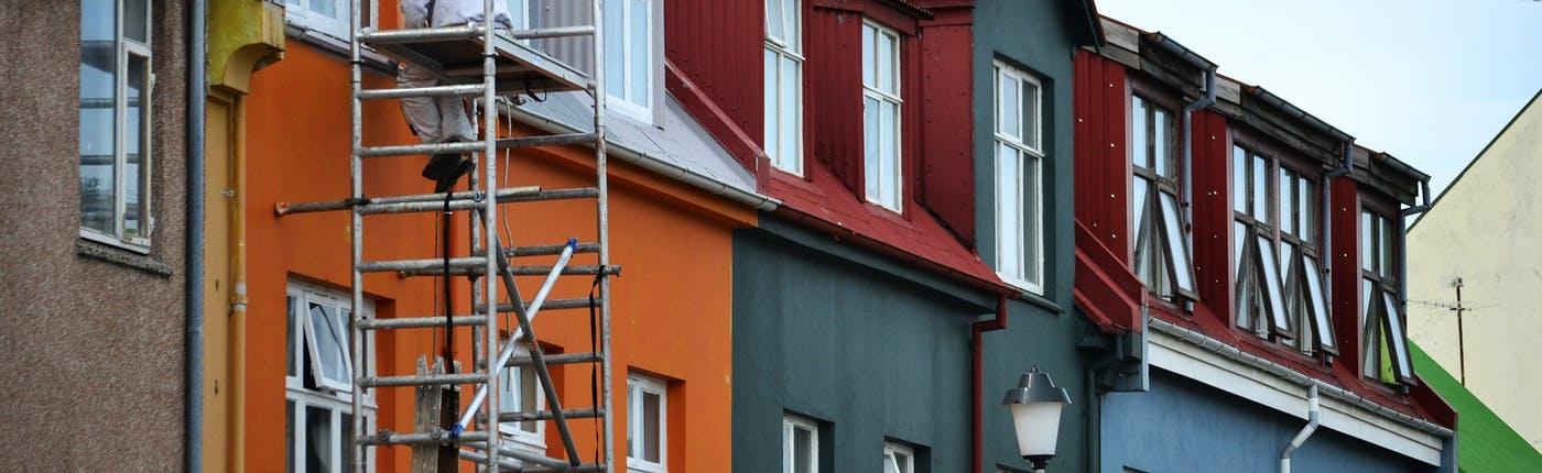 Construction and urban development is a common sight in Iceland's biggest towns.