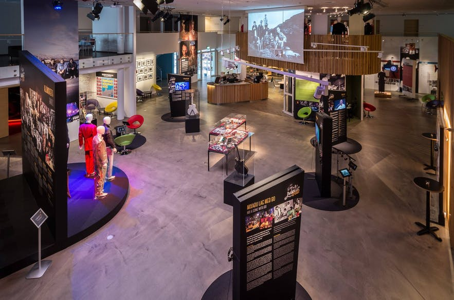 Wnętrze islandzkiego muzeum Rock'n'Rolla.