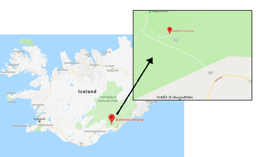 冰島斯卡夫塔山冰川健行集合地點