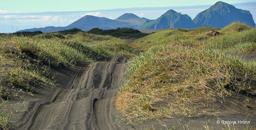 The road leading to Landeyjarsandur South-Iceland